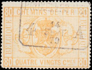 Belgium #Q1-Q6, Complete Set(6), 1879-1882, Used