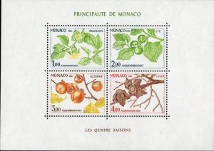 MONACO 315 S/S MNH SCV $8.50 BIN $5.00 PLANTS