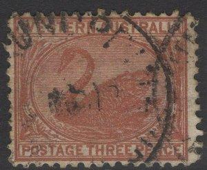 WESTERN AUSTRALIA SG141 1906 3d BROWN USED