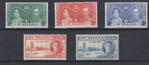 ST HELENA  1937 - 46  CORONATION & VICTORY SETS   M H