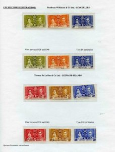 Seychelles and Leeward Is 1937 Coronation Page