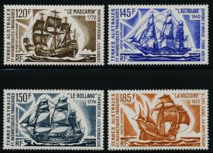 French Antarctic Territory C29-32 MNH Sailing Ships