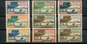 New Caledonia SC# 136-43 Bay of Paletuviers Point  MNH/MH