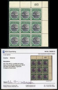 Bahamas SG173/b 3s slate-purple and myrtle-green VARIETY Stop after COLUMBUS
