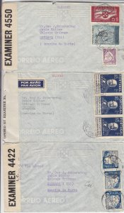 1940-1941, Atlantic Clipper Covers From Portugal, Censored, Grp 8 (S18589)