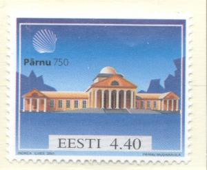 Estonia Sc 417 2001 Parnu 750 years stamp mint NH