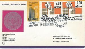 Lufthansa First Flight Mexico - Frankfurt Germany 11 Feb 75 LH 481