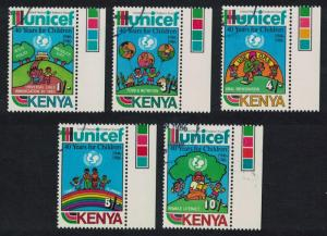Kenya 40th Anniversary of UNICEF 5v CTO SG#403-407 CV£8.6