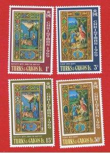 Turks & Caicos Islands #196-199  MNH OG  Christmas    Free S/H