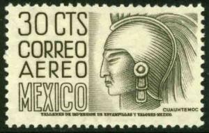 MEXICO C220Bl, 30c 1950 Definitive 2nd Printing wmk 300 PERF 11 1/2X11 MNH. VF.
