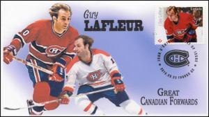 CA16-040, 2016, FDC, Canadian Forwards, Guy Lafleur, Day of Issue,