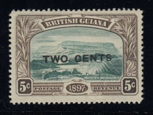 British Guiana, SG 222a (Sc 157a), MHR No Stop After Cents variety