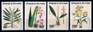 [67014] Ivory Coast 1996 Flora Flowers Blumen Orchids  MNH