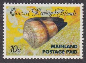 Cocos Islands # 228, Sea Shell, NH, 1/3 Cat.