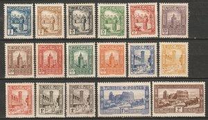 Tunisia 1931 Sc 122-38 partial set MLH*