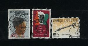 Ivory Coast 3 different  used PD