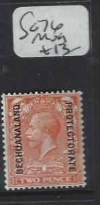 BECHUANALAND  (PP1904B)  KGV ON GB 2D     SG  76   MOG