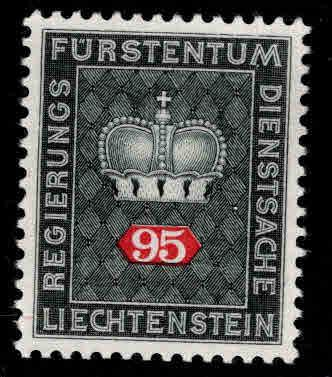 LIECHTENSTEIN Scott o55  MH* Official stamp on white paper