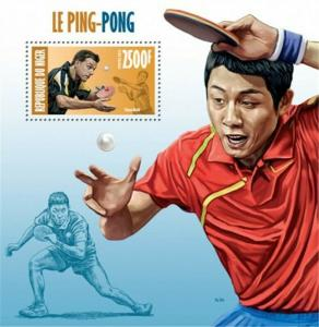 Niger - 2013 - Timo Boll Stamp - Stamp Souvenir Sheet 14A-241