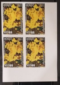 Block 4 of Cambodge Cambodia Kampuchea MNH imperf stamps 2008 : Orchid Flower
