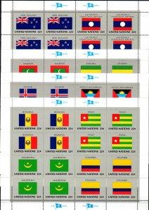 United Nations #477-92 MNH Flag Sheets CV $19.20 (K2763L))