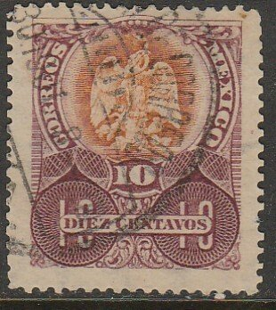 MEXICO 298, 10¢ EAGLE COAT OF ARMS. USED. VF. (190)
