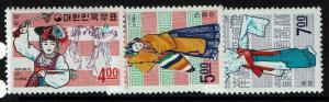 Korea SC# 555-557, Mint Never Hinged -  Lot 010117