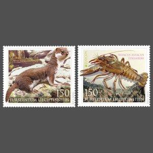 Liechtenstein Stamps 2021-Europe-Endangered wildlife