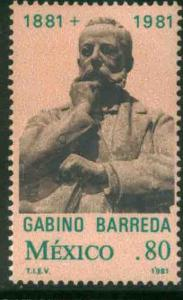 MEXICO 1228 Death Centenary of Gabino Barreda MNH