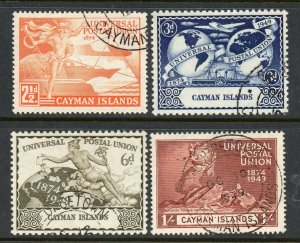 Cayman Islands 1949 UPU set SG 131-134 used