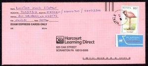 Kenya Sc# 609 On Cover (a) Air Mail 1993 Lesser Flamingo