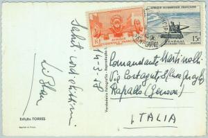 67332 -  Afrique Occidental SENEGAL - Postal History: POSTCARD to ITALY 1958
