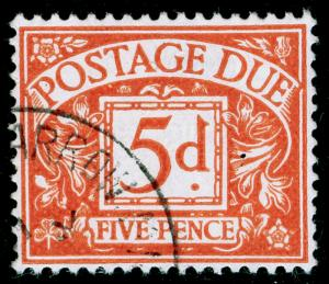 SGD72, 5d orange-brown, VERY FINE USED, CDS. Cat £11.
