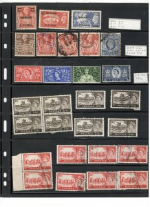 GREAT BRITAIN COLLECTION ON STOCK SHEET,