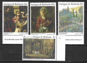 Antigua 1561,64-65, 67 Paintings part set MNH