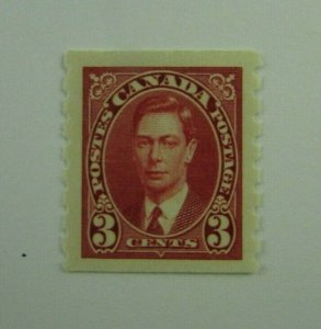 1937 Canada SC #240 Coil  KGVI 3 cent  MH  F-VF stamp