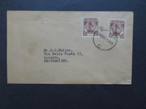 Malaya 1950 Cover to Switzerland - Z9275