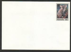 Australia Koala Unused Postal Envelope