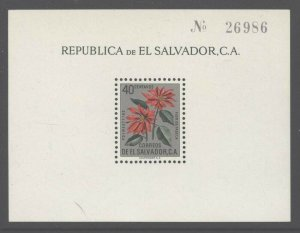 El Salvador 1960 Poinsettts S/S set Sc# 718/C192 NH