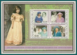 Nauru 2000 Queen Mother, MS MNH 483a,SGMS514
