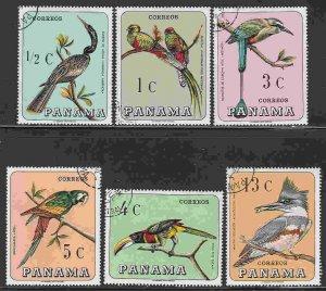 Panama #478-8E F-VF Used (CTO) Birds