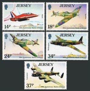 Jersey 544-548,MNH.Michel 524-528. Battle of Britain-50th Ann.1990.Air force.