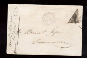Prince Edward Island #15b Very Fine Used Bisect Cover **With Certificate**
