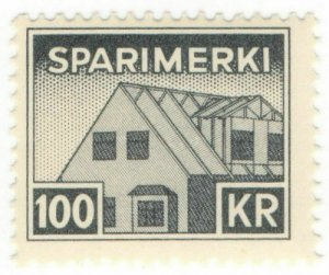 (I.B) Iceland Revenue : Savings Stamp 100Kr (Sparimerki)