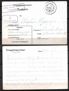 WWII. 1940. POSTCARD FROM STALAG IVB - POW CAMP FOR SOLDIERS TO POLAND