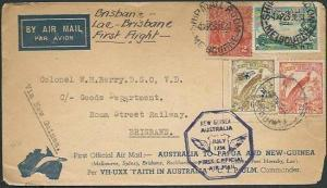 AUSTRALIA NEW GUINEA 1934 double flight cover.........................38900