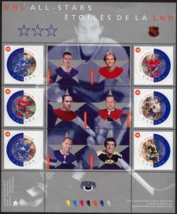 Canada USC #1935 Mint VF-NH 2002 Hockey NHL All Stars - Face $2.88