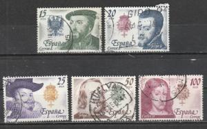 Espagne  1979  Scott No. 2179-83  (O)  Complet
