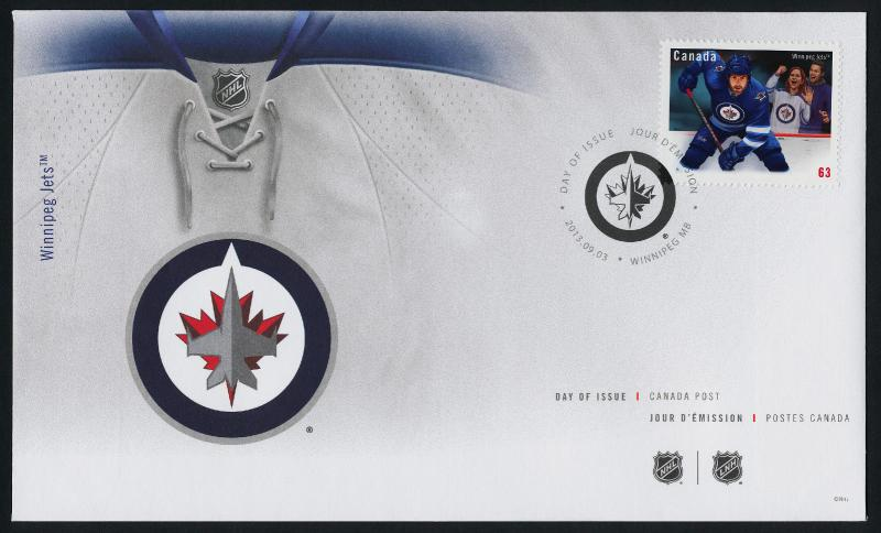Canada 2675 on FDC NHL - Winnipeg Jets, Hockey, Sports
