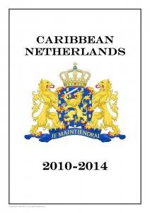 Carribean Netherlands 2010-2014  PDF (DIGITAL) STAMP  ALBUM PAGES